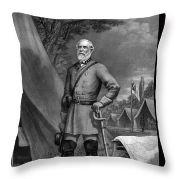 General Robert E Lee Throw Pillow
