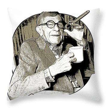 George Burns Throw Pillow