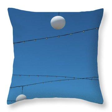 3 Globes Throw Pillow