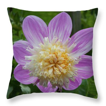 Golden Gate Park Dahlia Throw Pillow