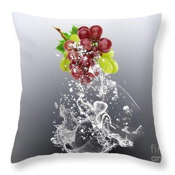 Grape Splash Throw Pillow by Marvin Blaine