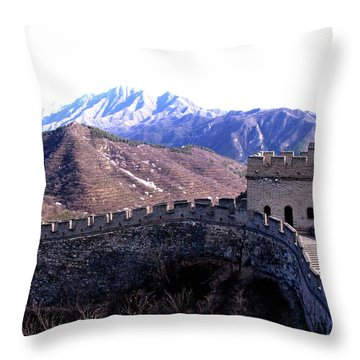 Throw Pillow featuring the photograph Great Wall by Marti Green
