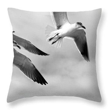 3 Gulls Throw Pillow