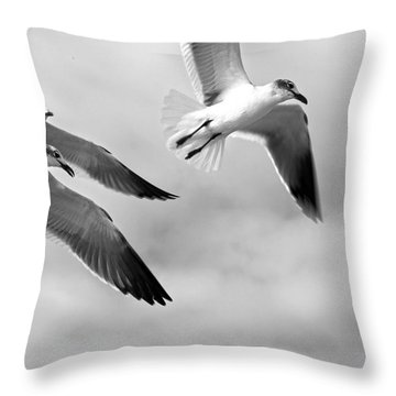 3 Gulls Throw Pillow
