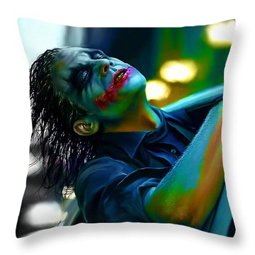 Heath Ledger Throw Pillow
