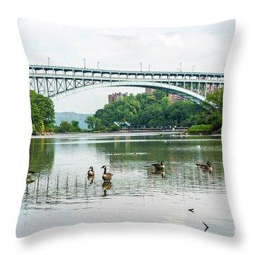 Henry Hudson Bridge Throw Pillow