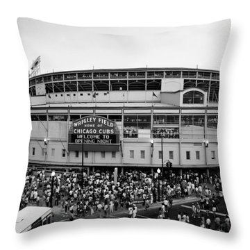 High Angle View Of Tourists Throw Pillow