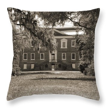 Historic Drayton Hall In Charleston South Carolina Throw Pillow by Dustin K Ryan
