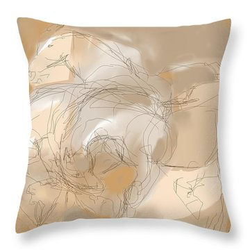 3 Horses Throw Pillow by Mary Armstrong