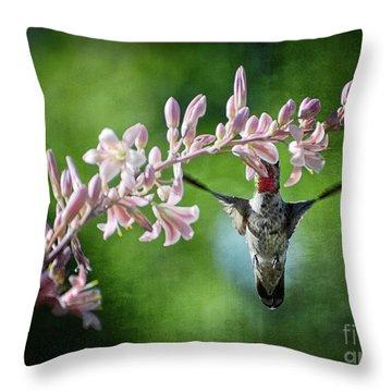 Hummingbird  Throw Pillow by Saija  Lehtonen