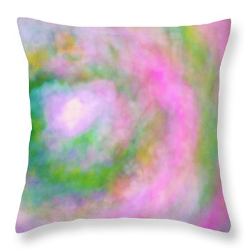 Throw Pillow featuring the photograph Impression Series - Floral Galaxies by Ranjay Mitra