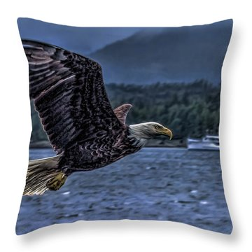 Throw Pillow featuring the digital art In Flight. by Timothy Latta
