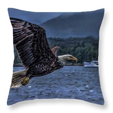 In Flight. Throw Pillow by Timothy Latta
