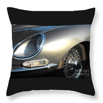 Jaguar E-type Throw Pillow