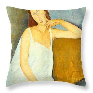 Jeanne Hebuterne Throw Pillow