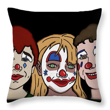 3 Jesters Throw Pillow