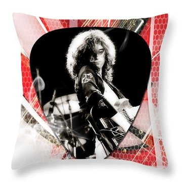 Jimmy Page Art Throw Pillow by Marvin Blaine