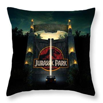 Jurassic Park 1995  Throw Pillow