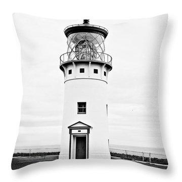 Kilauea Lighthouse Throw Pillow by Scott Pellegrin