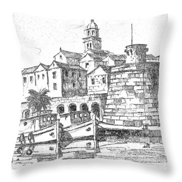 Korcula Croatia Throw Pillow