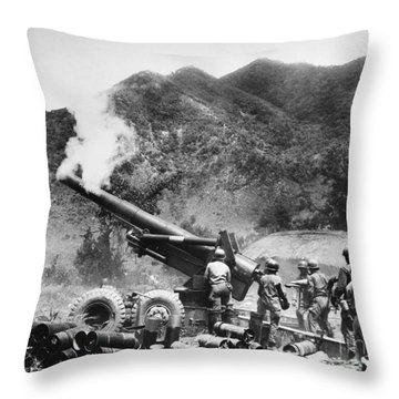 Korean War: Artillery Throw Pillow by Granger