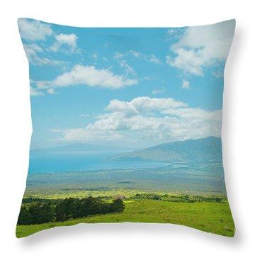 Kula Maui Hawaii Throw Pillow by Sharon Mau