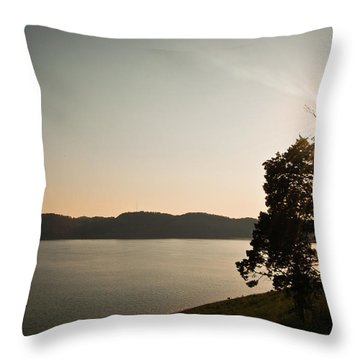 Lake Cumberland Sunset Throw Pillow