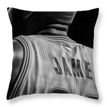 Lebron James Collection Throw Pillow