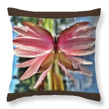 Lily Pad Reflection Throw Pillow