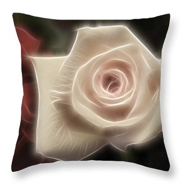 3 Little Roses For Patrice Throw Pillow by Kevin  Sherf