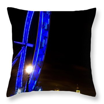 London Eye Night View Throw Pillow
