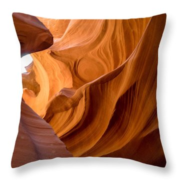 Lower Antelope Canyon Navajo Tribal Park #4 Throw Pillow