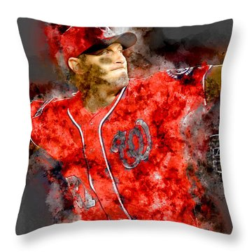 Max Scherzer Throw Pillow