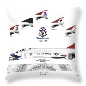 Mcdonnell Douglas F-4e Phantom II Thunderbirds Throw Pillow