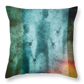 3 Men Throw Pillow by James Bethanis