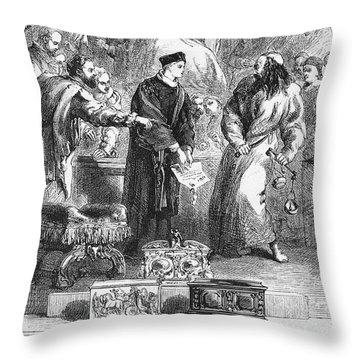Merchant Of Venice Throw Pillow by Granger