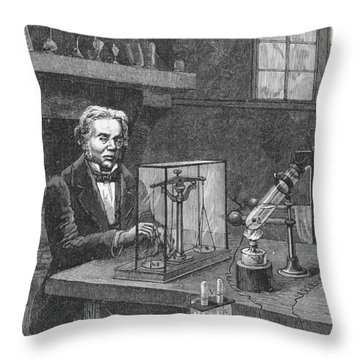Michael Faraday (1791-1867) Throw Pillow by Granger