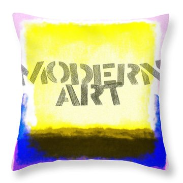 Modern Art Throw Pillow