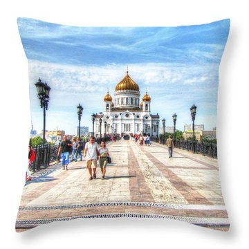Moscow Russia Throw Pillow