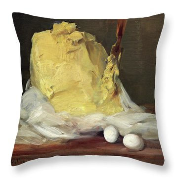 Mound Of Butter Throw Pillow