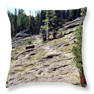 Throw Pillow featuring the photograph Mount Baldy Trail by Juls Adams