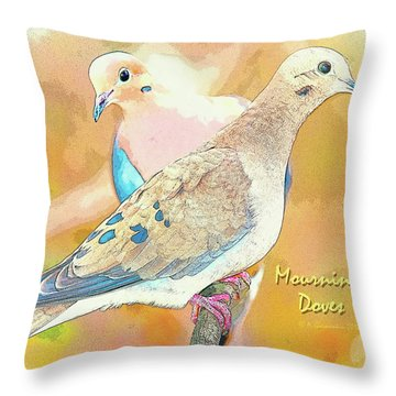 Mourning Dove Pair  Throw Pillow