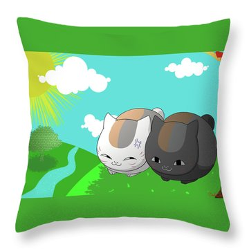 Natsume's Book Of Friends Throw Pillow