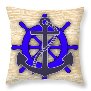 Nautical Collection Throw Pillow by Marvin Blaine