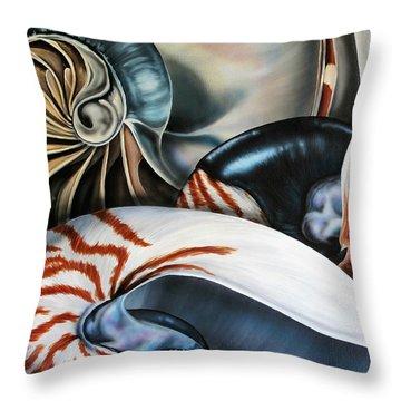 3 Nautilus Throw Pillow