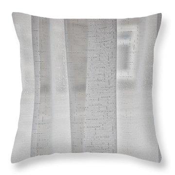 Net Curtain Throw Pillow