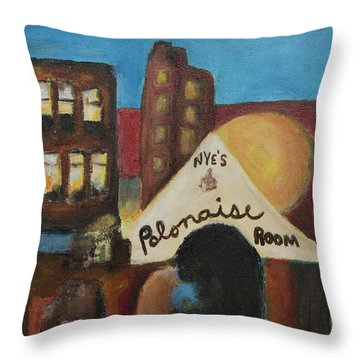 Throw Pillow featuring the painting Nye's Polonaise Room by Susan Stone