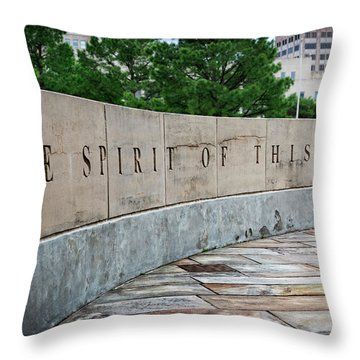 Okc Memorial IIi Throw Pillow