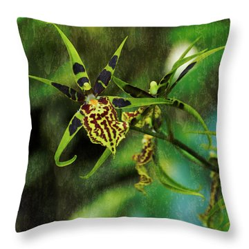 Throw Pillow featuring the photograph Orchid by Richard Goldman