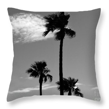 3 Palms Throw Pillow